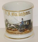 Carriage Shaving Mug