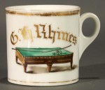Pool Table Shaving Mug