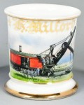 Steam-Powered Railway Shovel Shaving Mug