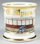 Train Car Repairman Shaving Mug