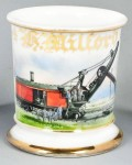 Railway Steamshovel Shaving Mug