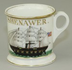 Warship Shaving Mug
