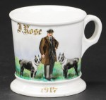 Man With Dogs Shaving Mug