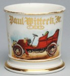 Automobile and Odd Fellows Shaving Mug