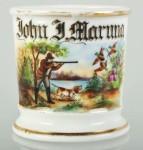 Hunting Scene Shaving Mug