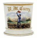 Railroad Flagman Shaving Mug