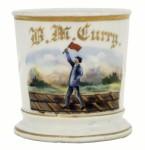 Railroad Flagman Shaving Mug