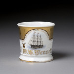 Sailing Ship and Fraternal Shaving Mug