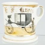 Carriage Shaving Mug