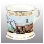Railroad Steam Shovel Shaving Mug