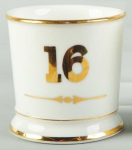 Numbered Shaving Mug