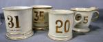 Numbered Shaving Mugs